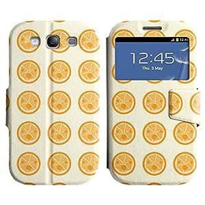 Be-Star Diseño Impreso Colorido Slim Casa Carcasa Funda Case PU Cuero - Stand Function para Samsung Galaxy S3 III / i9300 / i717 ( Cute Pizza )