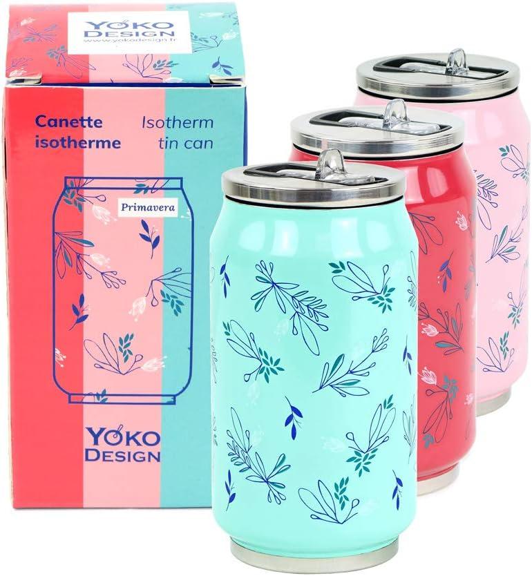 Yoko Design para agua ni/ños reutilizable ecol/ógica deporte oficina 280//500//700 ml viaje sin BPA Lata isot/érmica de doble pared de acero inoxidable