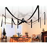 GIANT HALLOWEEN HANGING SPIDER - 20 FEET WIDE! by Fun Express by Fun Express