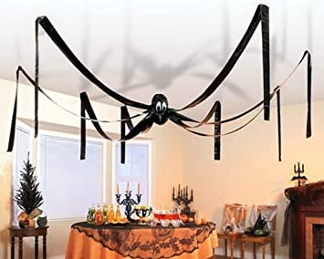 giant halloween hanging spider 20 feet wide by fun express by fun express