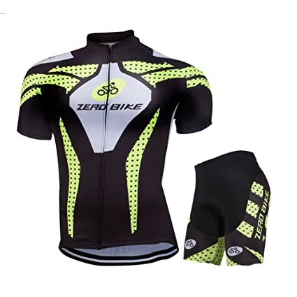 6b160113d ZEROBIKE reg  Men s Short Sleeve Breathable Cycling Jersey 3D Padded Shorts  Set Bicycle Clothing ...