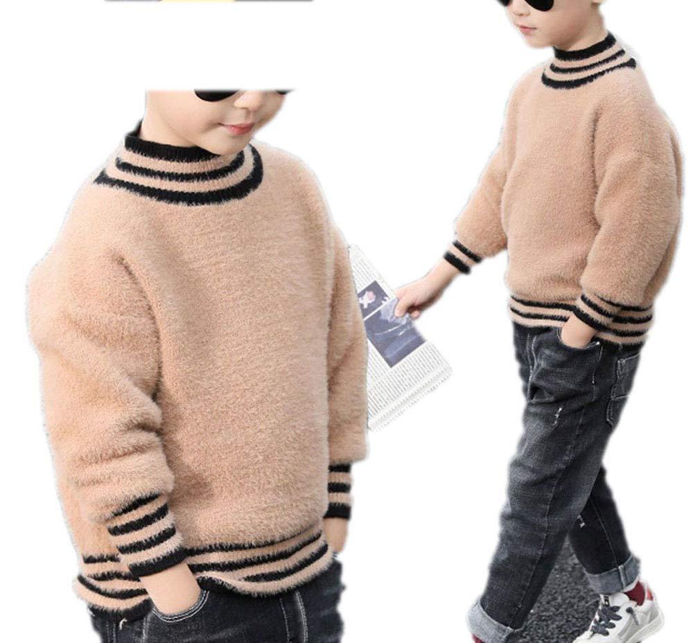 MZjJPN Teenage Baby Boys Wool Sweater Winter Infant Cotton Knit Tops Kids Long Sleeve Sweater Children Outerwears Khaki 12