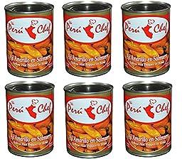Aji Amarillo Peruvian Yellow Hot Pepper in brine 6 cans pack