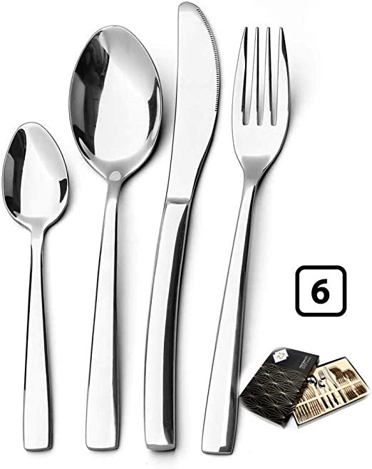 knives and forks //24 New Gold Cutlery Assortment 8pc Each of spoons