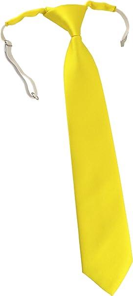 TigerTie - Corbata - para niño amarillo Talla única: Amazon.es ...