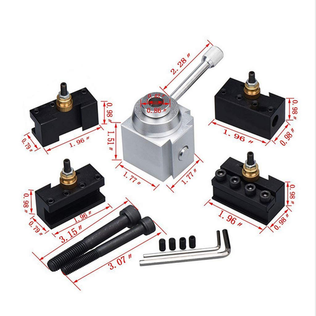 Homyl Quick Change Tool Post and Holder Kit Set Aluminum for Table Lathes by Homyl (Image #3)