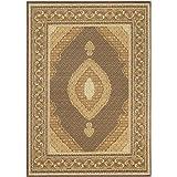 """ecarpetgallery 65420 Traditional Classic Mahee Rug Dark Brown, 4'7""""X 6'5"""""""