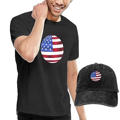 QqZXD Playera de Baloncesto con la Bandera Estadounidense para ...