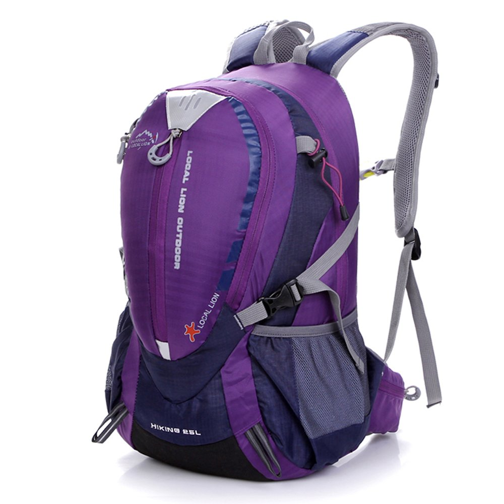 Padgene Backpack - Lightweight 25L Bag for Travelling, Outdoor Sports, Hiking, Trekking, Mountaineering, Camping and Cycling, Purple