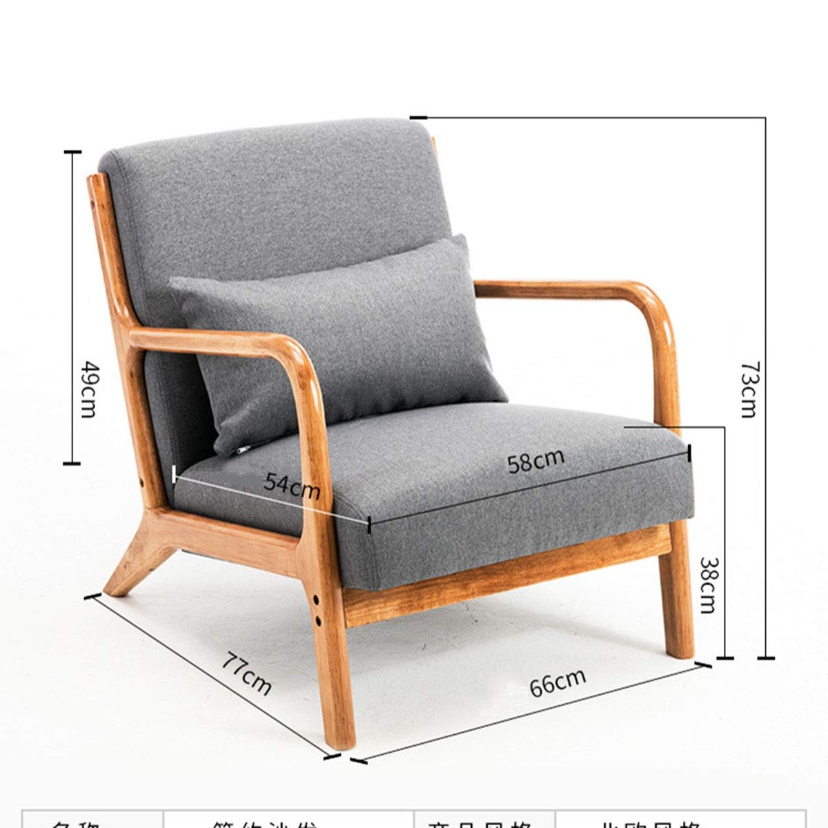Amazon.com: L Mini Small Sofa, Lazy Sofa Leisure Balcony ...