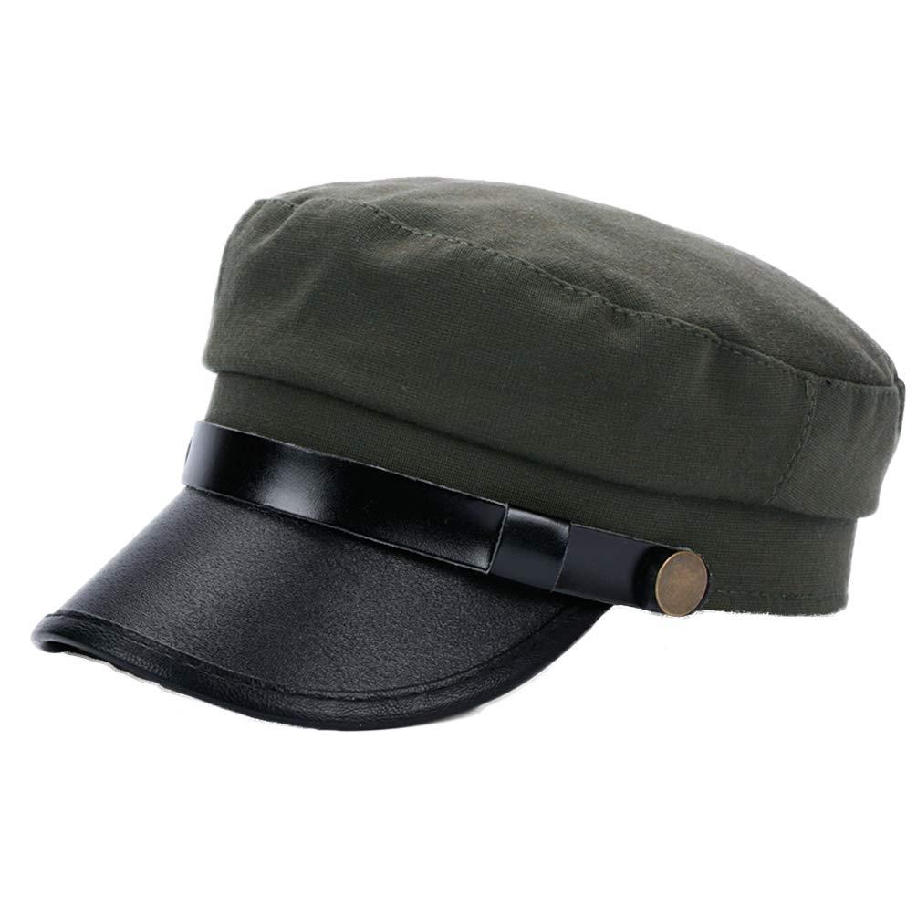Unisex Vintage Cosplay Japanese Student Black Hat Cap Chauffeur Limo Driver Hat Flat Cap