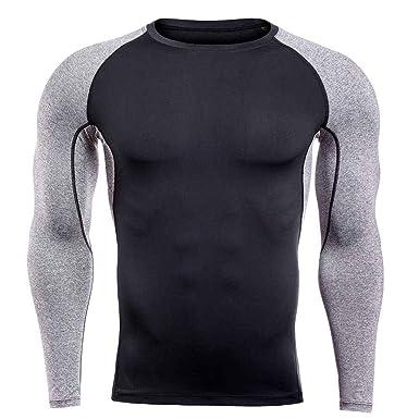 Camisetas Elásticas de Secado Rápido para Hombre Running ...