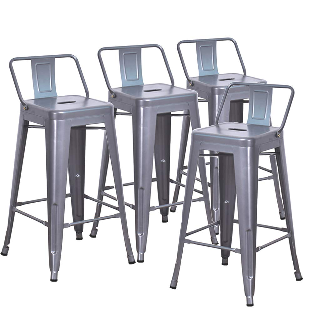 Amazoncom Dekea 26 Inch Bar Stools Counter Height With Low Back
