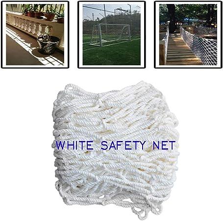 Escalera De Niños Red Anticaída Cuerda De Seguridad Protector De Piscina De Seguridad para Niños Red De Protección De Balcón Redes De Seguridad De Construcción Patio De Recreo Parque Estadio Blanco: Amazon.es: