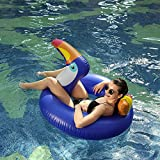 HANMUN Giant Toucan Inflatable Pool Float,2018 New Design Summer swim Ring Lounger Inflatable Float Ride-On Floaties Party Toys for Kids Adults