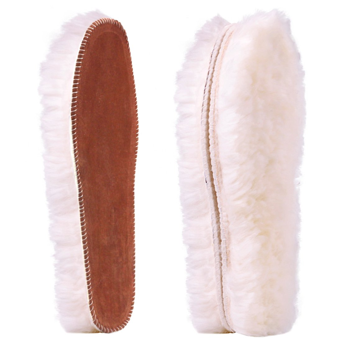 Ailaka Women's Premium Thick Sheepskin Insoles/Inserts, Warm Fluffy Fleece Wool Replacement Insoles for Shoes Boots Slippers by Ailaka