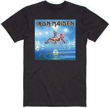 Rock Off Iron Maiden Seventh Son Box Oficial Camiseta para Hombre