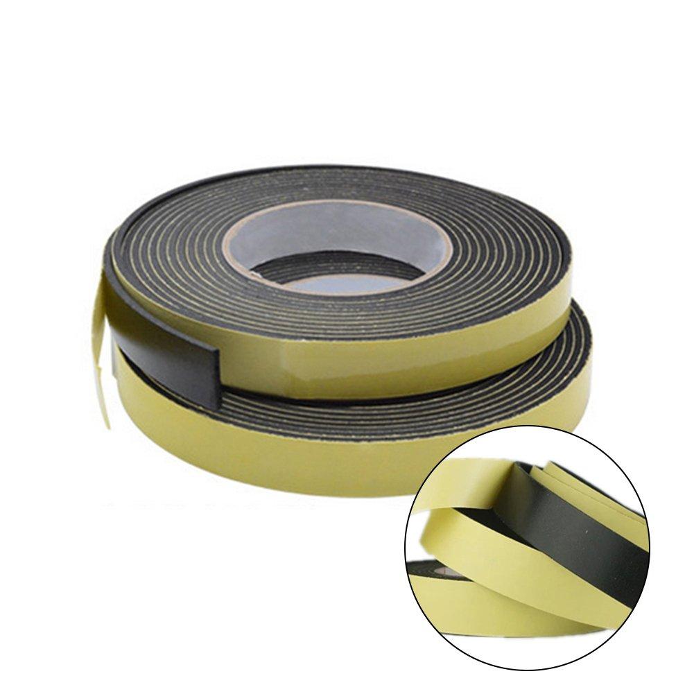 tira de goma adhesiva para puerta 3 mm x 20 mm x 5 m Cinta de espuma impermeable de una sola cara