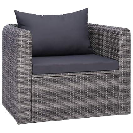 Style Durable et Gris 80 de 63 x Jardin Coussin et Oreiller 72 avec Tressée Moderne x en Tidyard cm Chaise Résine Confortable kuXZiOP