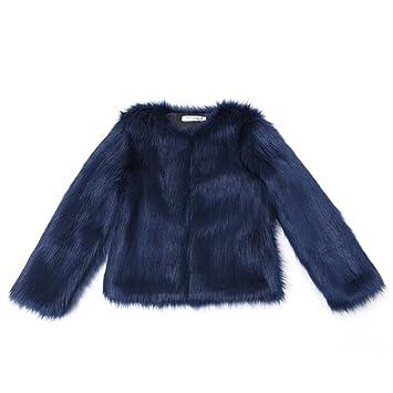 Mujeres Invierno Cálido Abrigo Corto Mujer Ropa Artificial Abrigo largo de piel sintética elegante manga larga chaqueta: Amazon.es: Hogar