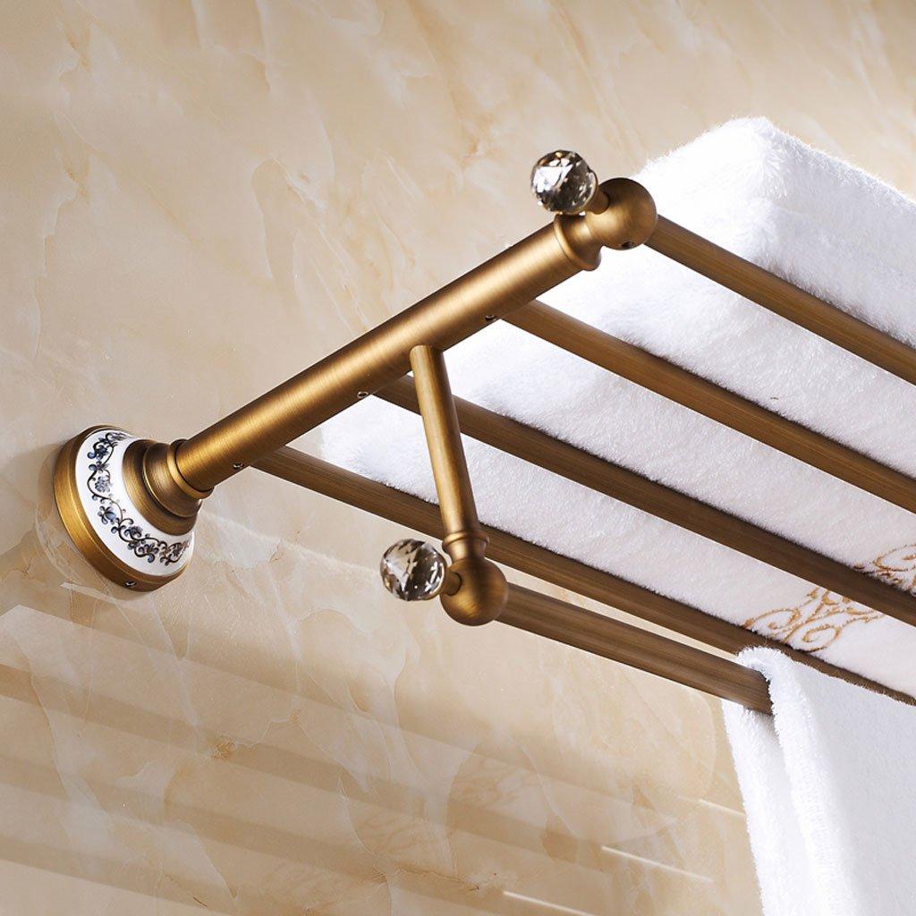 WYQLZ Retro Feine Kupfer Handtuchhalter Badezimmer Handtuchhalter 61cm (Farbe : Bronze Color)