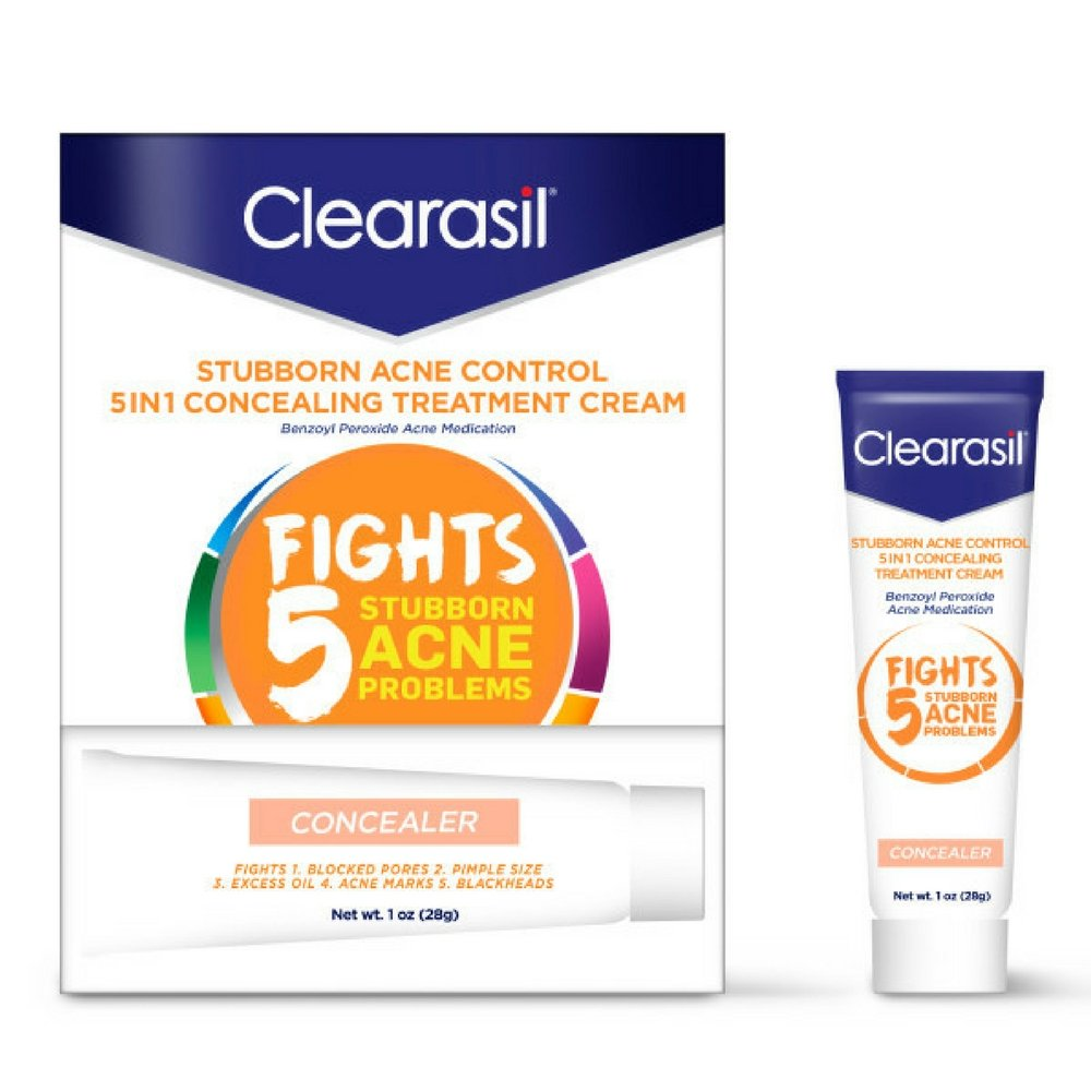 Clearasil Daily Clear Tinted Acne Treatment Cream, 1 oz. (Pack of 2) B00X8KCFW0