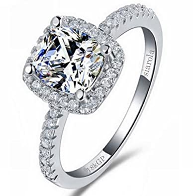 Amazoncom Fashionable 18k White Gold Plated AAA Cz High Quality