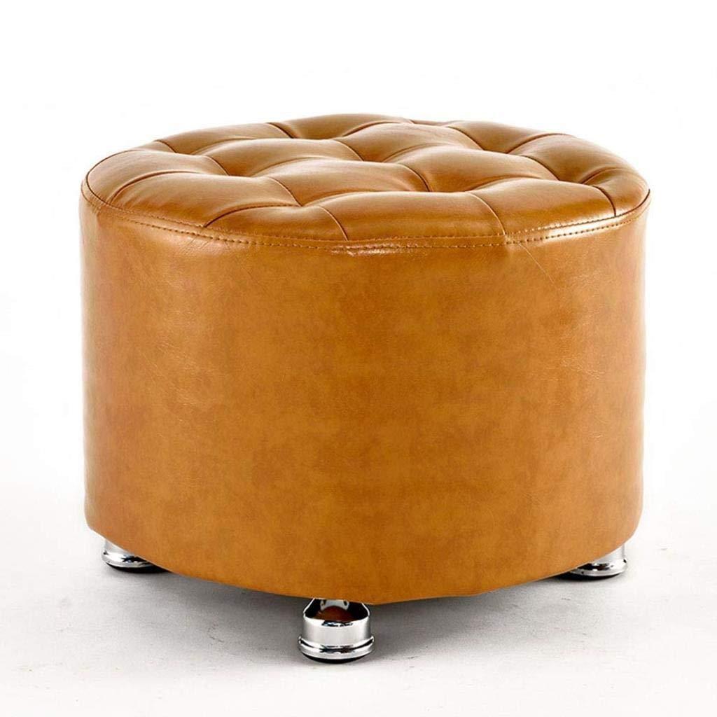 Color : A YJLGRYF Divanetto in Pelle massello Pouf poggiapiedi Cambio Scarpe Sgabello Panca Imbottita