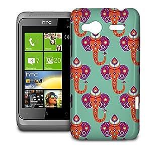 Phone Case For HTC Radar - Oriental Elephant India Snap-On Wrap-Around wangjiang maoyi