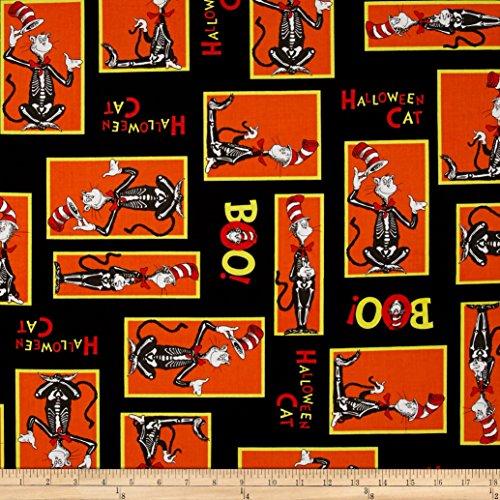 Dr. Seuss Spooktacular Seuss! Blocks Eerie Fabric By The Yard