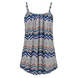 Women Printed Sleeveless Vest Blouse Tank Tops Clothes