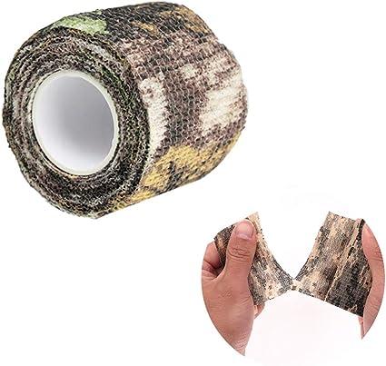 Acampada Escopetas Estiramiento Protector Cinta Camuflaje 10 M Cinta Envoltura Camuflaje Impermeable Autoadhesivo Caza Vendaje Rollo
