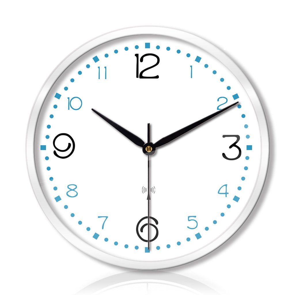 時計とリビングルームの寝室の創造的な金属の壁時計静かなスキャンインテリジェントな電波の壁時計の3世代 LCS (色 : 白, サイズ さいず : 12インチ) B07FC8SYM5 12インチ|白 白 12インチ
