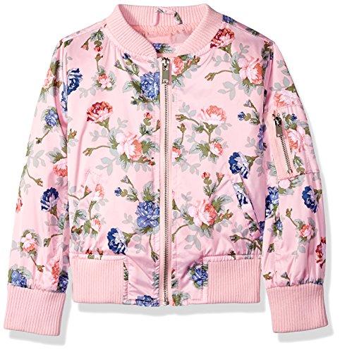 Urban Republic Big Girls Poly-Sateen Jacket, Rose, 10/12