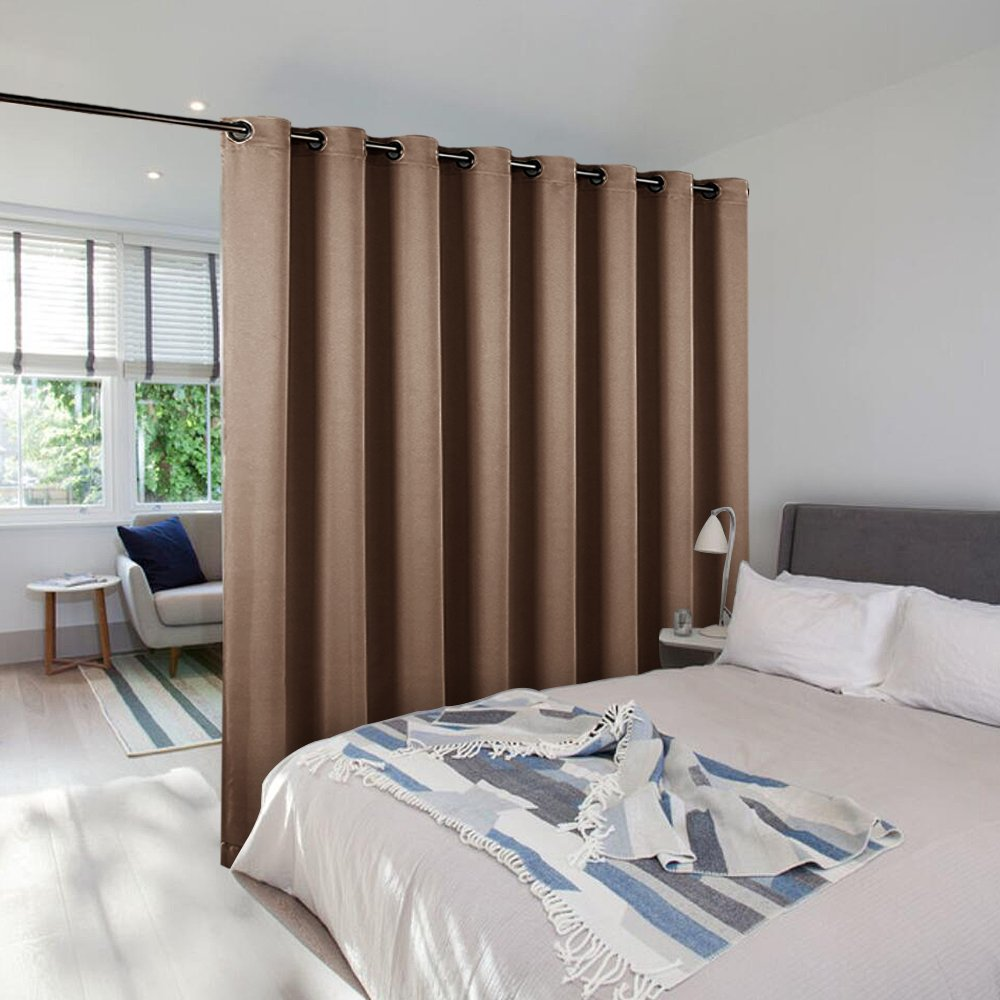 NICETOWN Room Dividers Blind Screens Partitions, Home Decor Room Screen Dividers for Shared Space, Suit for Office, Loft, Dorm, Hotel (1 Pc, 9'Tall x 15' Wide,Cappuccino)