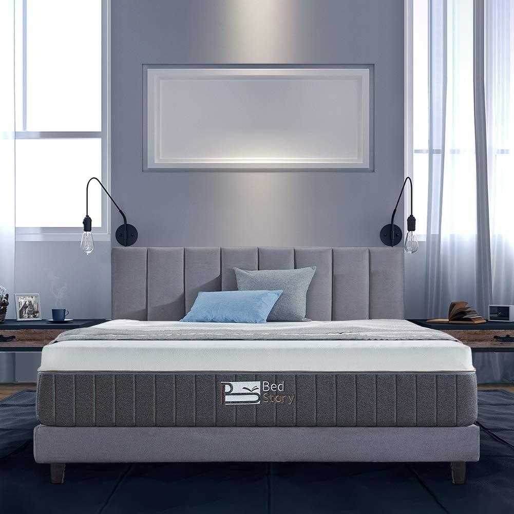 BedStory 12 Inch Gel Memory Foam Mattress Twin, Bamboo Charcoal Infused Breathable Bed Mattress CertiPUR-US Certified Foam, 10-Year Warranty