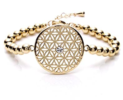 silvity Damen Blume des Lebens Armband, Swarovski® Edition Kristalle  959801-20 Farbe Gold  Amazon.de  Schmuck 4d28ed4707