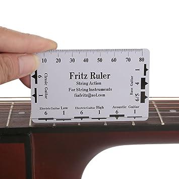 Tbest Regla de Guitarra,2Pcs Regla de Acción de Guitarra Regla de Cuerda de Guitarra Herramientas de Medición de Regla para Guitarra Bajo Accesorios para ...
