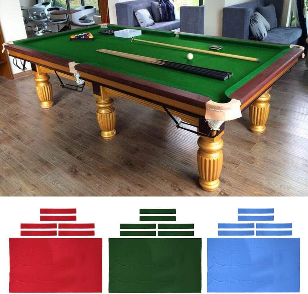 Verde Rojo Azul 7 Pies 8 Pies CUTICATE 1pc Tapetes de Billar//Funda de Billar de Repuesto