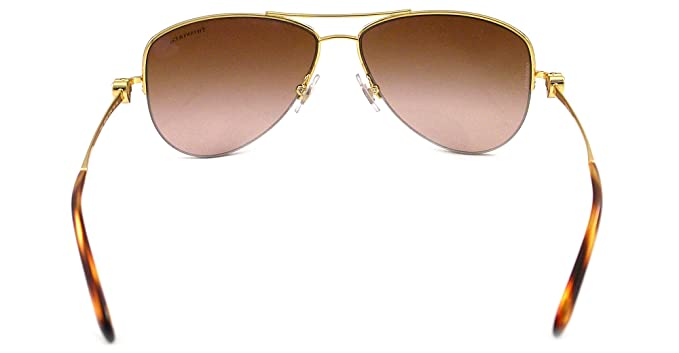 Amazon.com: anteojos de sol Tiffany tf3021 60023b Oro café ...