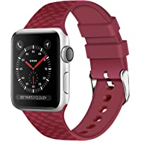 WISHTA Sport Wristbands Compatible with 38/40mm and 42/44mm Apple Watch (various colors)