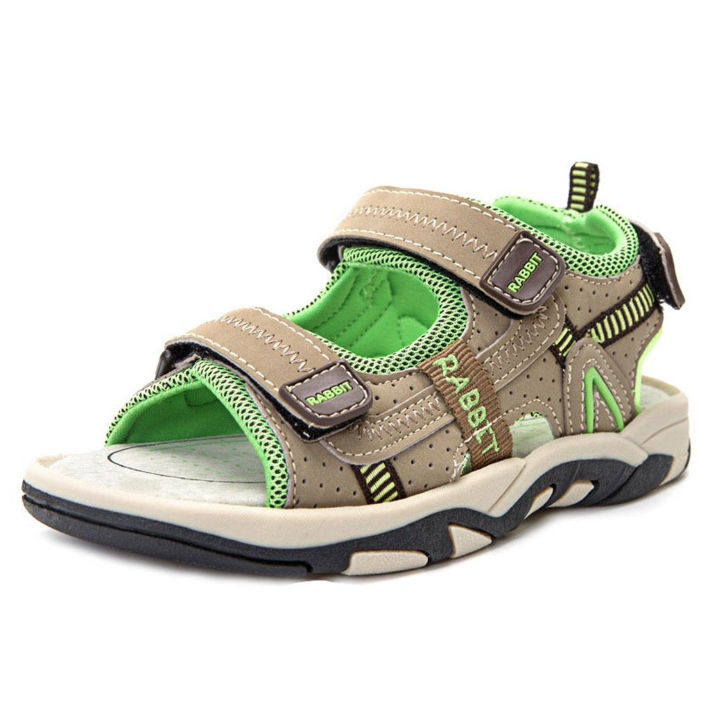 Boy's Girl's Outdoor Athletic Double Adjustable Strap Breathable Open-Toe Water Beach Sandals(Toddler/Little Kid/Big Kid)?