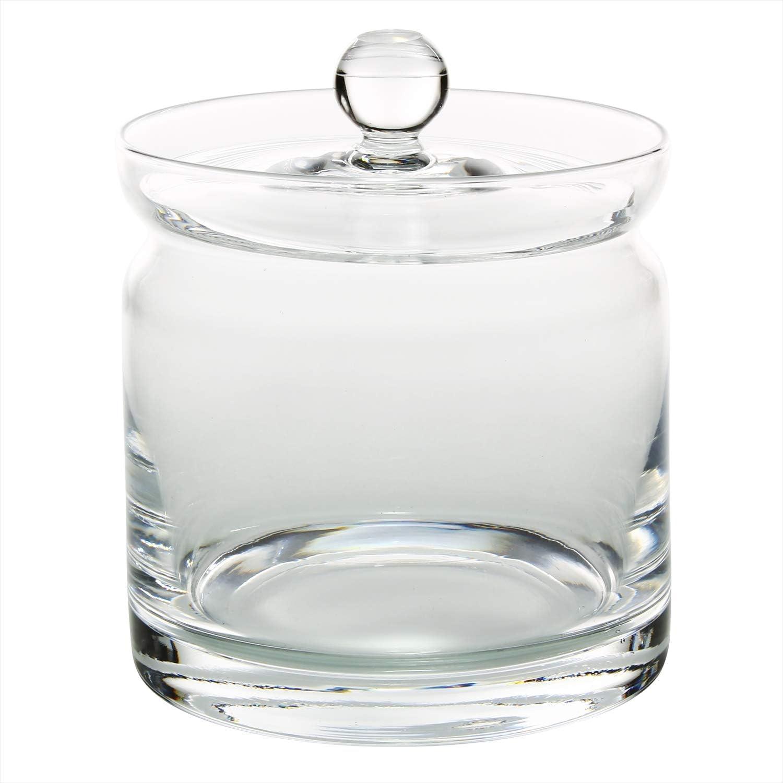 ガラス 蓋付 ポット L クリアー 46T041