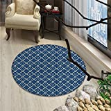 Quatrefoil print rug Ethnic Arabian Tessellation Theme Entwined Curved Motifs of Marrakesh Tile ArtOriental Floor and Carpets Blue White