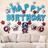 CuteTrees Super Hero Captain America 1st 2nd 3rd 4th 5th 6th 7th 8th 9th Happy Birthday Balloons set for birthday party birthday decoration birthday supplies 31 pcs