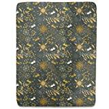 Weird Birds Fly At Night Fitted Sheet: King Luxury Microfiber, Soft, Breathable