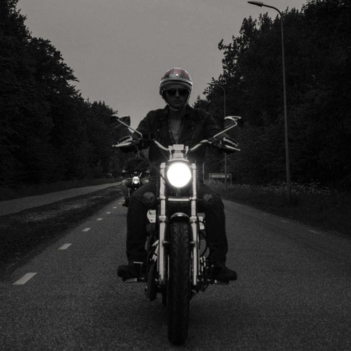 Wakauto 1 St/ück Motorradzubeh/ör Vintage Langlebiger Schutzhelm Au/ßenhelm Motorradhelm f/ür M/änner Die Frauen Reiten