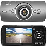 """AuKing Dash Cam Full HD 1080P in Car Camera Blackbox DVR Dashboard with 2.7"""" LCD, Car Video Recorder, Built in G-Sensor with Automatic Loop Recording, WDR, Motion Detection, Parking Monitoring"""