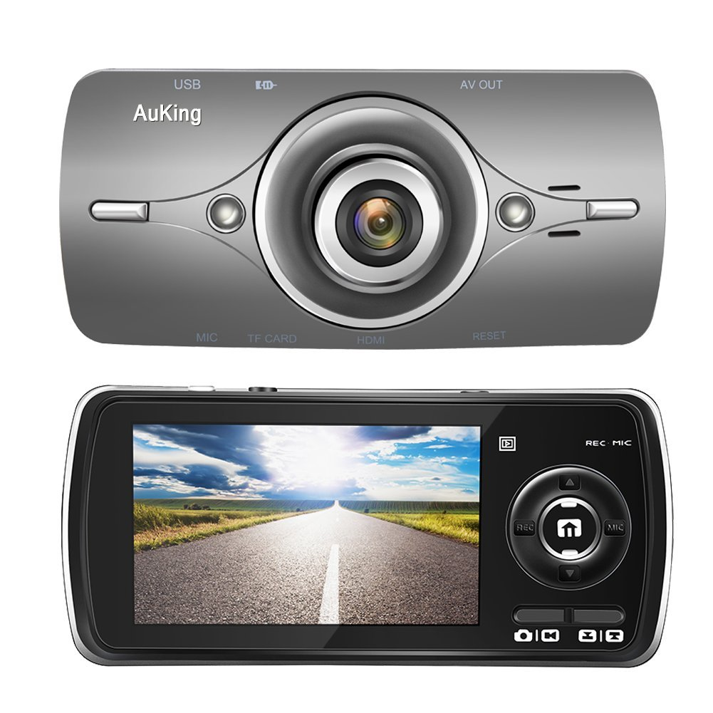 Dash Cam,AuKing 2.7'' LCD Full HD 1080P in Car Cam DVR Dashboard, Video Recorder, with G-Sensor, Automatic Loop Recording, WDR, Parking Monitoring,Motion Detection