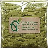 Cotton Fiber for Spinning, Blending, Felting & Fiber Arts. Soft Vegan Combed Top. Sage